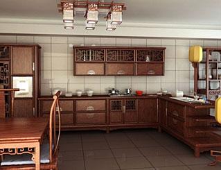 是西姆在中式厨柜中新图片